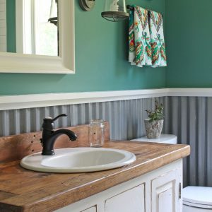 Old with New Farmhouse Bathroom